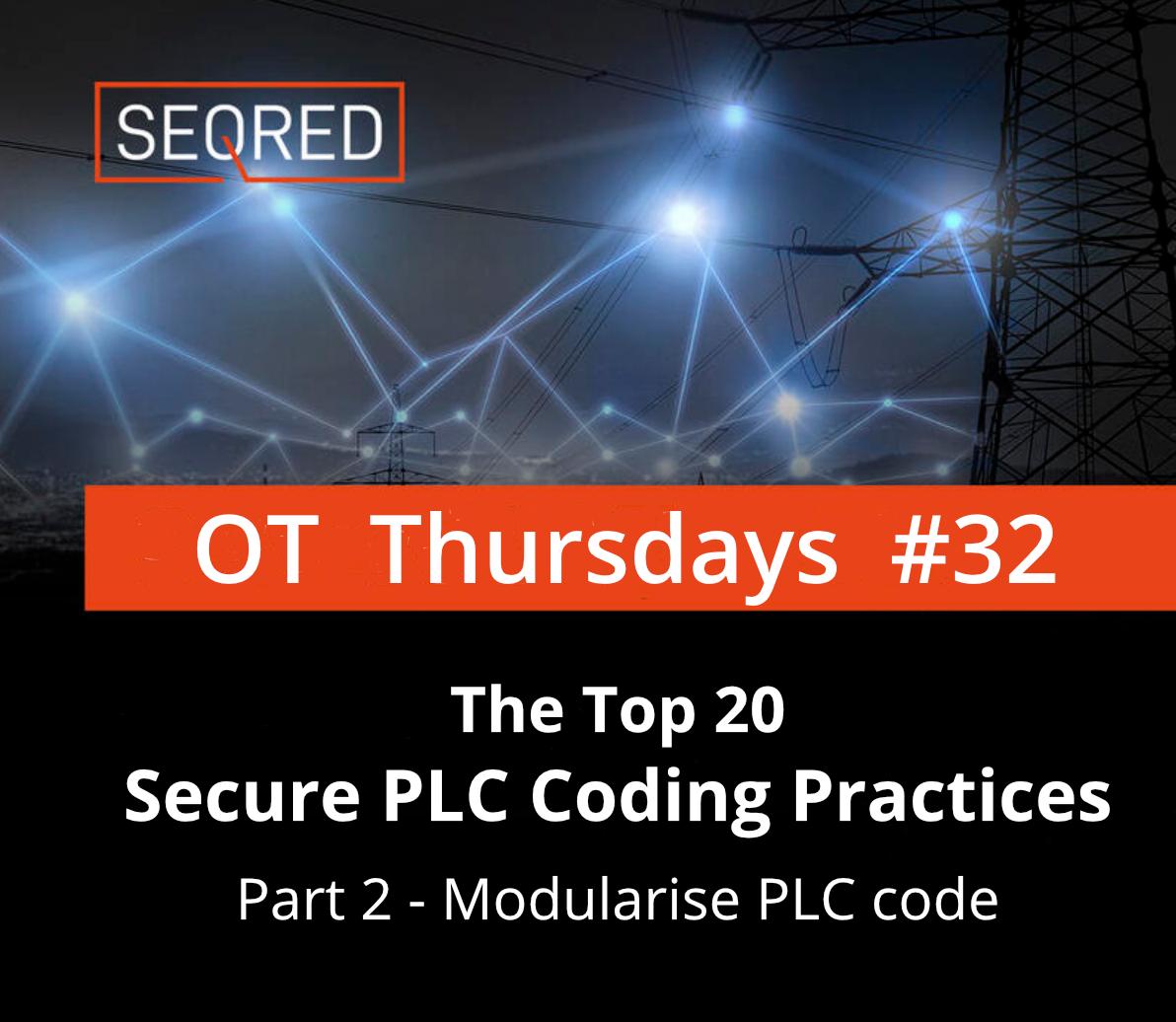 The Top 20 Secure PLC Coding Practices. Part 2 - Modularise PLC code